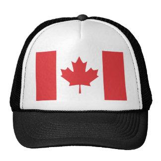 Bandera canadiense gorras de camionero