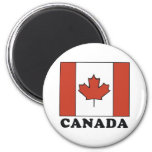 Bandera canadiense imán redondo 5 cm