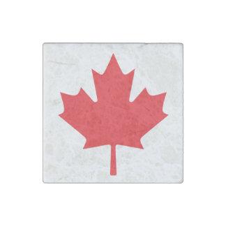 Bandera canadiense imán de piedra