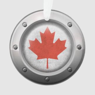 Bandera canadiense industrial con el gráfico de ac
