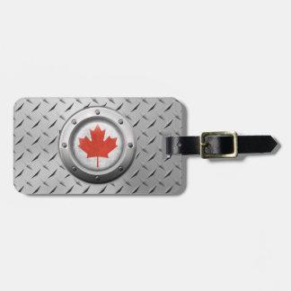 Bandera canadiense industrial con el gráfico de ac etiquetas de maletas