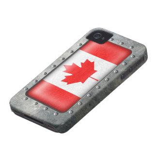 Bandera canadiense industrial funda para iPhone 4 de Case-Mate