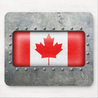 Bandera canadiense industrial tapete de ratón