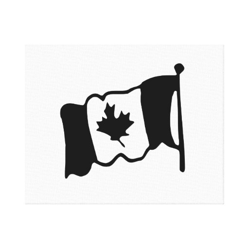 Bandera canadiense lienzo envuelto para galerías