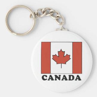 Bandera canadiense llavero personalizado