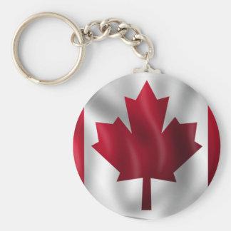 Bandera canadiense llavero redondo tipo pin