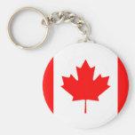 Bandera canadiense llaveros personalizados