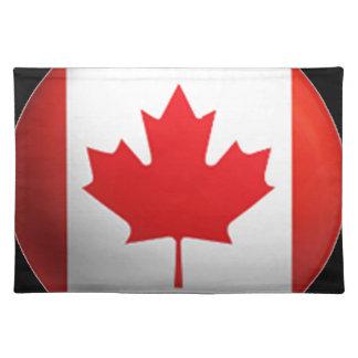 Bandera canadiense manteles individuales