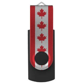 Bandera canadiense pen drive giratorio USB 3.0