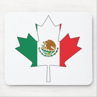 Bandera canadiense mexicana tapete de ratones