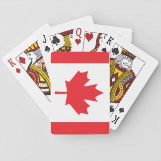 Bandera canadiense naipes