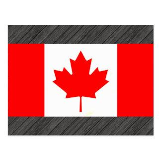 Bandera canadiense nerviosa moderna postal