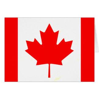 Bandera canadiense nerviosa moderna tarjeta de felicitación
