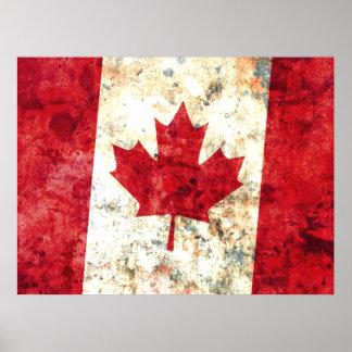 Bandera canadiense posters