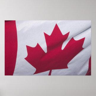 Bandera canadiense poster