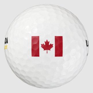 Bandera canadiense pack de pelotas de golf
