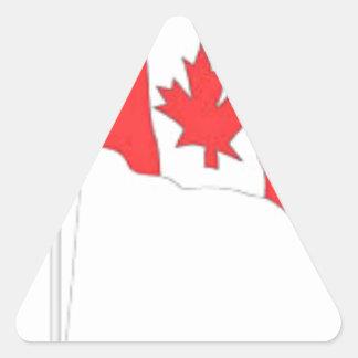 Bandera canadiense colcomanias triangulo