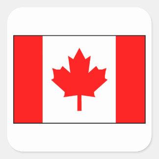 Bandera canadiense pegatinas cuadradas