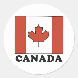 Bandera canadiense pegatinas redondas