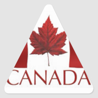 Bandera canadiense colcomanias trianguladas