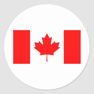 Bandera canadiense etiquetas redondas