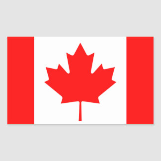 Bandera canadiense pegatina rectangular