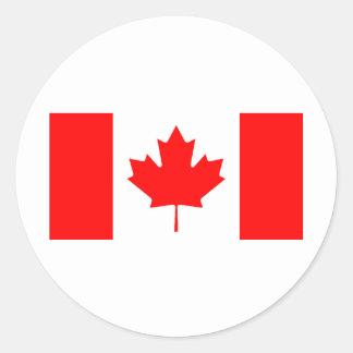 Bandera canadiense pegatina redonda