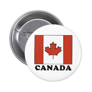 Bandera canadiense pin redondo 5 cm