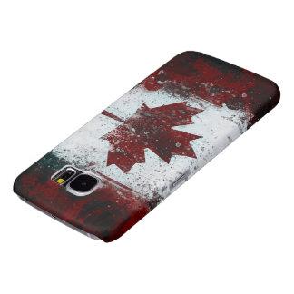 Bandera canadiense pintada de la hoja de arce fundas samsung galaxy s6