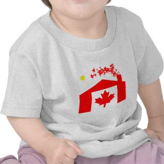 Bandera canadiense camisetas