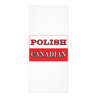 Bandera canadiense polaca de Polonia Tarjeta Publicitaria Personalizada