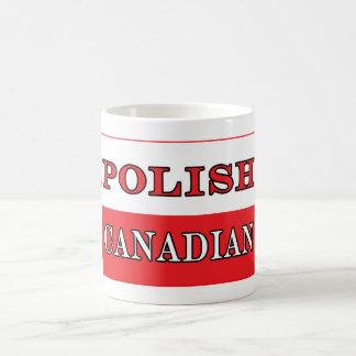Bandera canadiense polaca de Polonia Taza