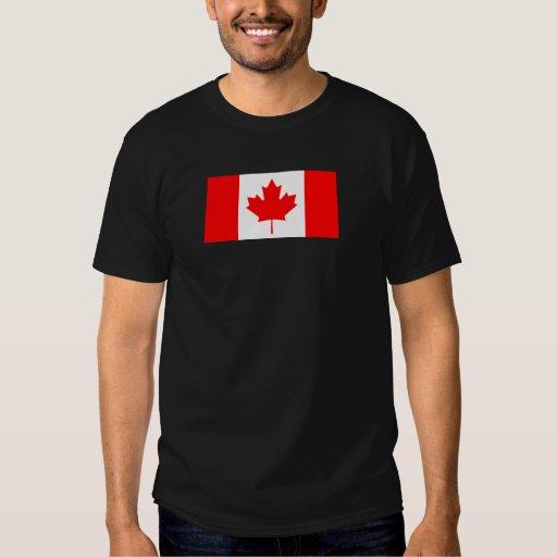 Bandera canadiense poleras