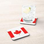 Bandera canadiense posavaso