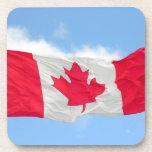 Bandera canadiense posavasos