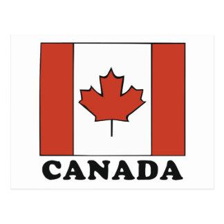 Bandera canadiense postales