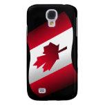 Bandera canadiense que agita