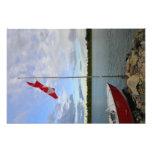 Bandera canadiense que agita arte fotográfico