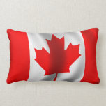 Bandera canadiense que agita cojín