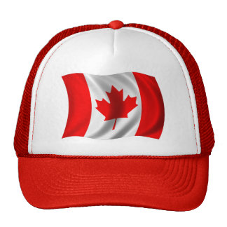 Bandera canadiense que agita gorros bordados