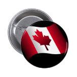 Bandera canadiense que agita pins