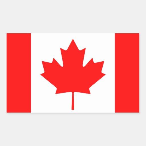 Bandera canadiense rectangular altavoces