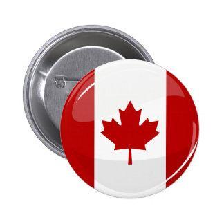 Bandera canadiense redonda brillante pin redondo 5 cm