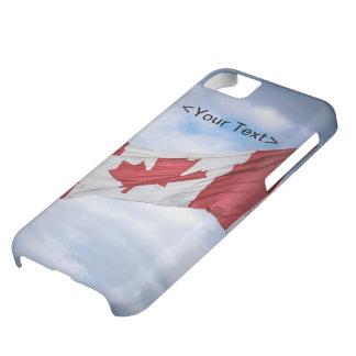 Bandera canadiense roja y blanca del día feliz de  funda para iPhone 5C