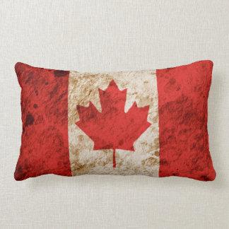 Bandera canadiense rugosa cojin
