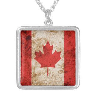 Bandera canadiense rugosa pendiente personalizado