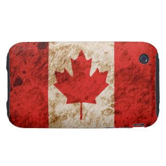 Bandera canadiense rugosa tough iPhone 3 protector