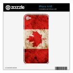 Bandera canadiense rugosa skins para eliPhone 4S