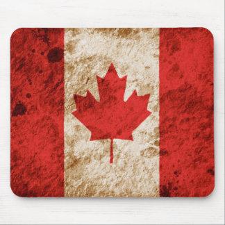 Bandera canadiense rugosa tapete de ratón