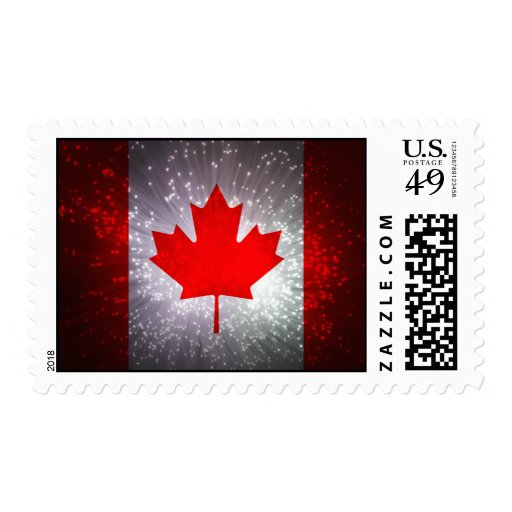 Bandera canadiense sellos